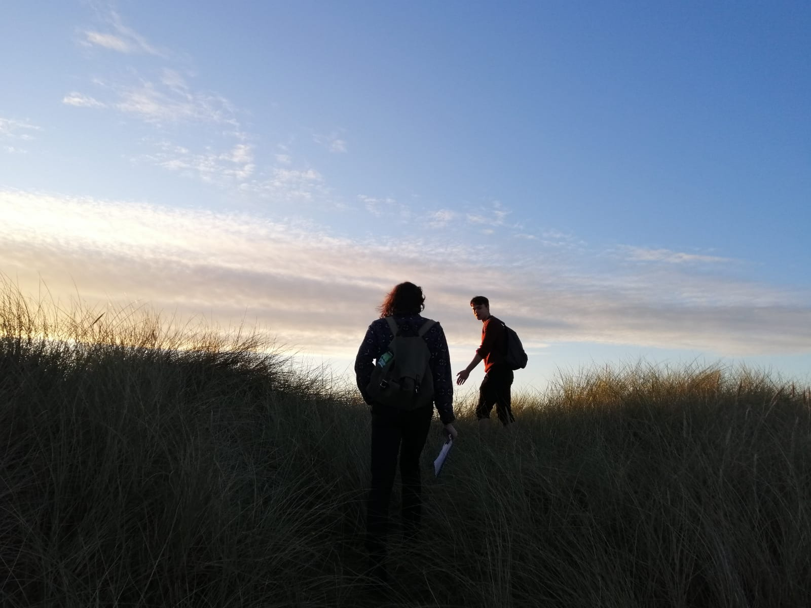 Me and another Gabriel climbing a dune! Photo credit to my colleague Marta!
