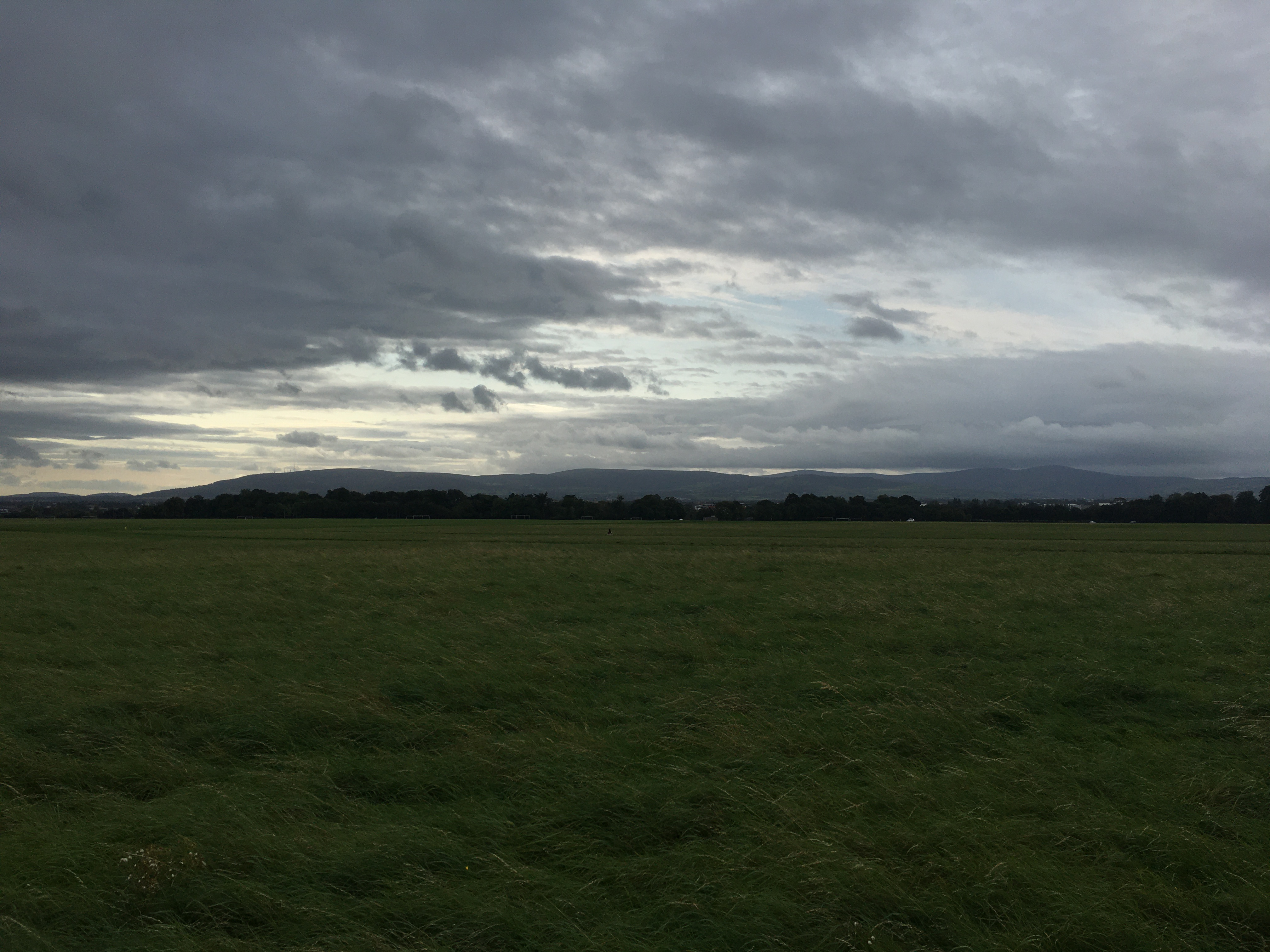 Wicklow mountains as seen from Phoenix Park