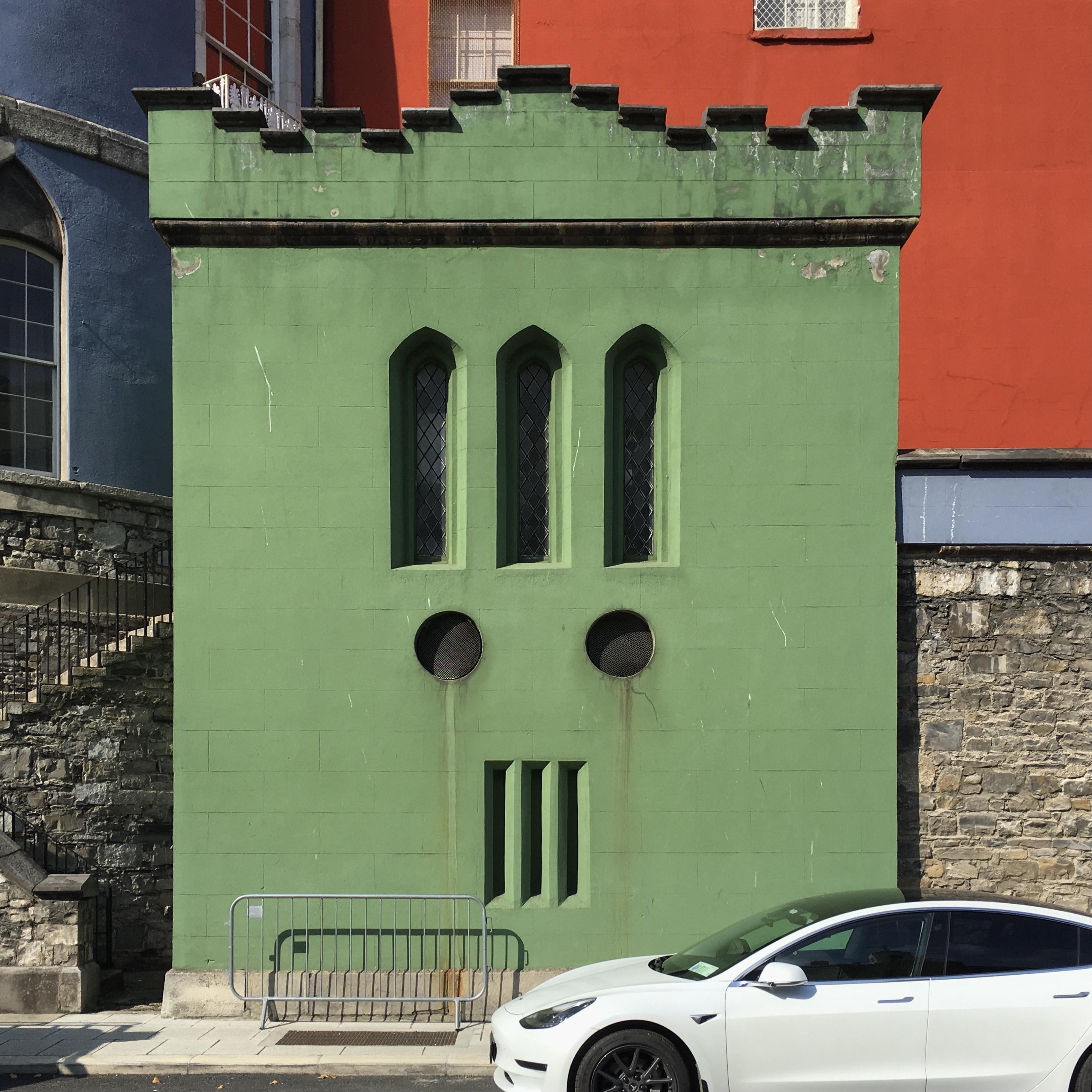 Colourful facade of Dublin Castle