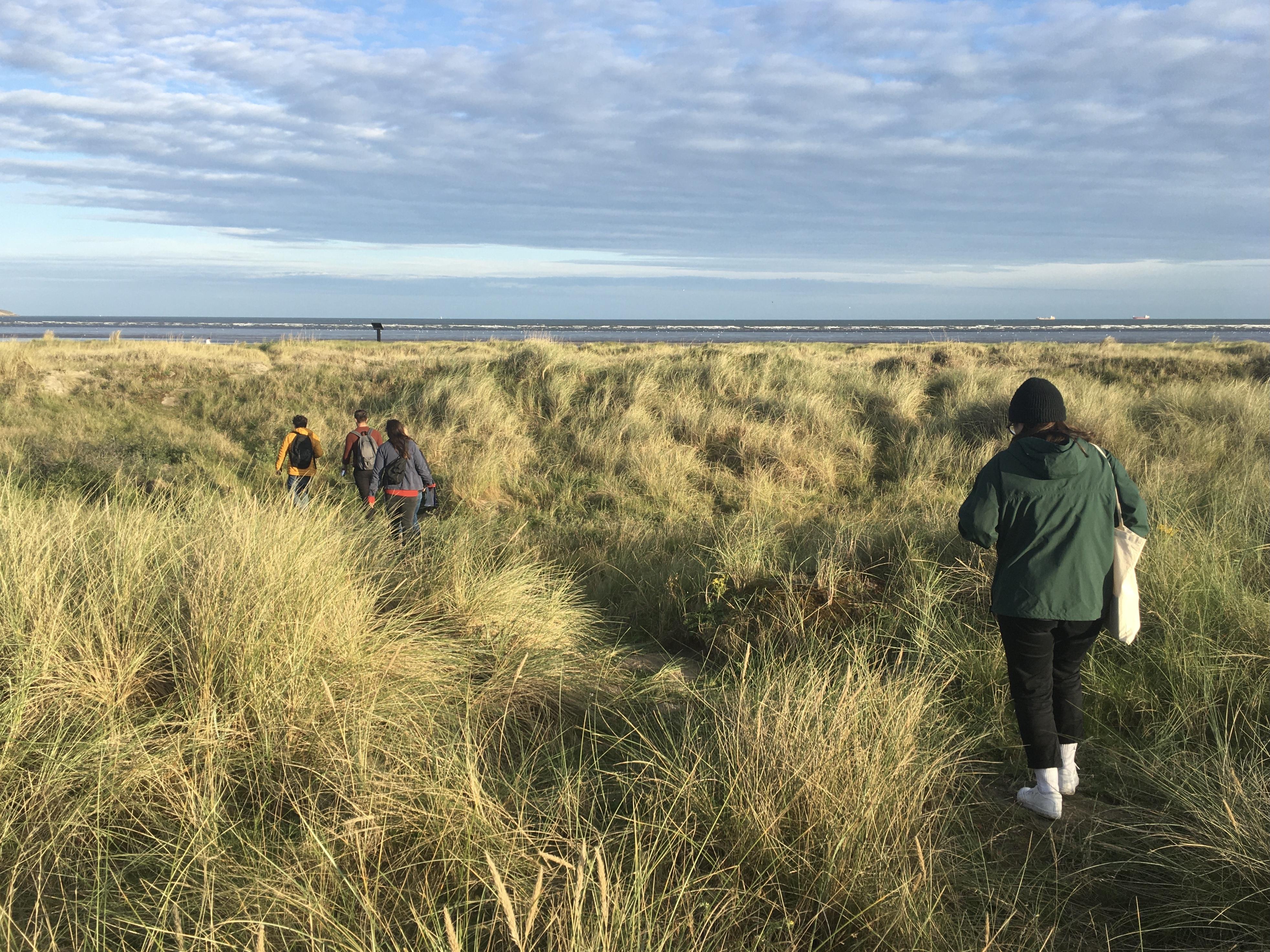 Fellow environmental historians on North Bull Island